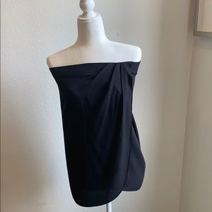 Rozae Nichols strapless black silk top